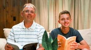 Anthony Catalfo and his son Ben, 16, of