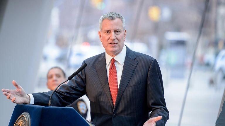 Mayor Bill de Blasio announced that nearly 800