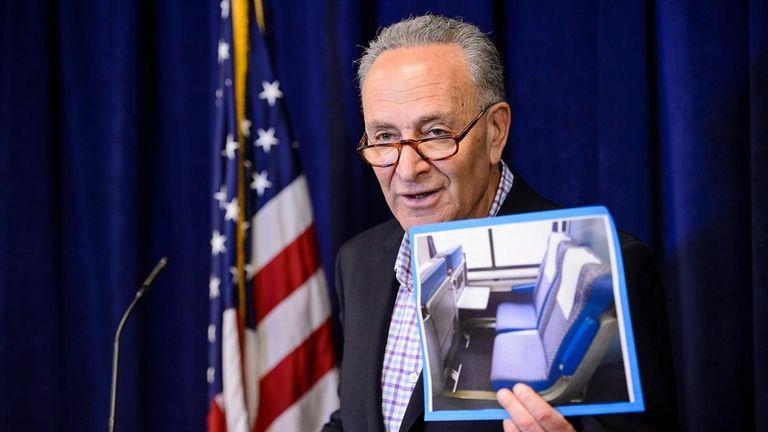 Sen. Chuck Schumer criticized an Amtrak proposal to