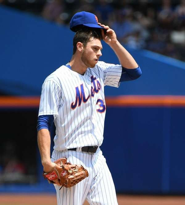 Mets pitcher Steven Matz reacts on the mound