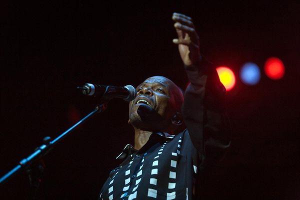 Jazz singer Ray Phiri performs at the Durban