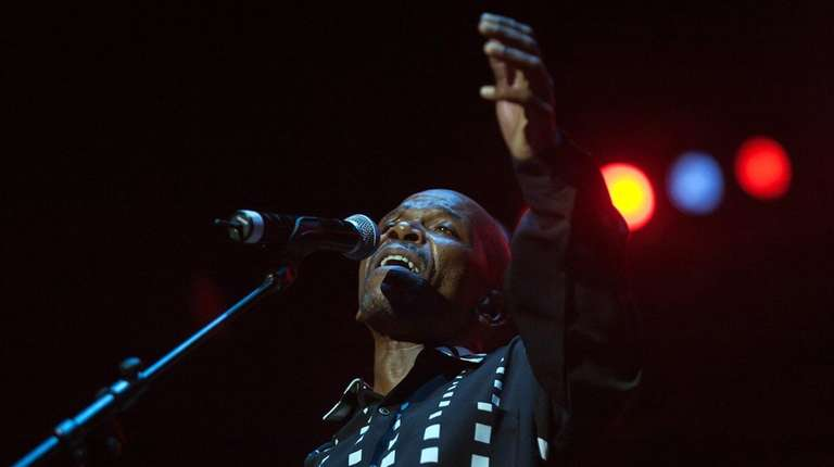Jazz singer Ray Phiri performs at the Durban