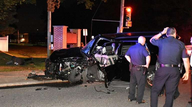 Four people fled the scene of a crash