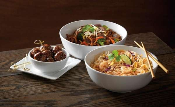 Noodles & Company specializes in global pasta dishes.