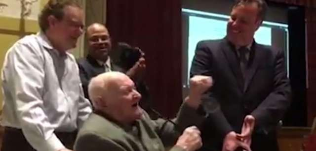 William Houston, 92, was honored at a June