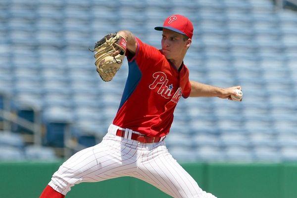 Phillies prospect Nick Fanti during aGulf Coast Leaguegame