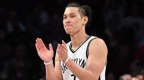Nets guard Jeremy Lin after a game against the