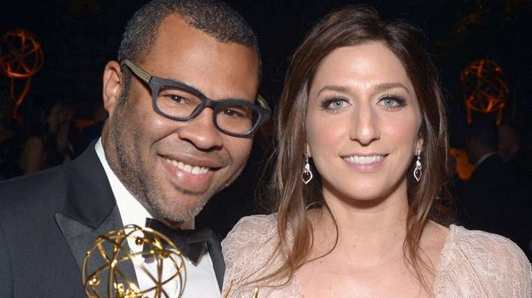 Actors Jordan Peele and Chelsea Peretti have welcomed