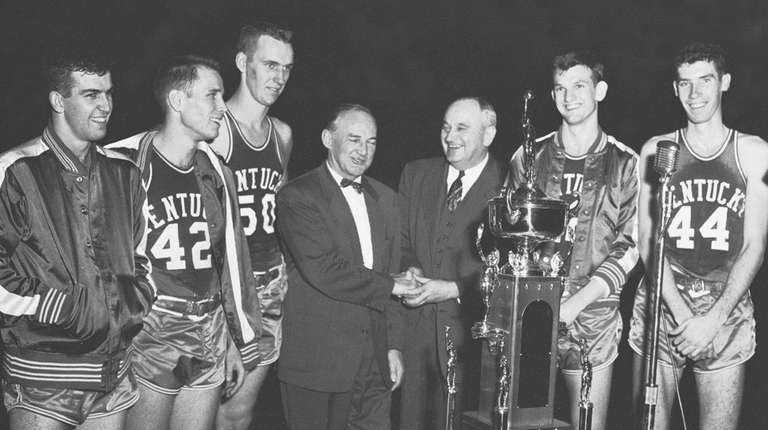 Jerry Bird, second from right, appears In this