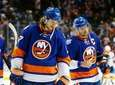 Matt Martin #17 and John Tavares #91 of