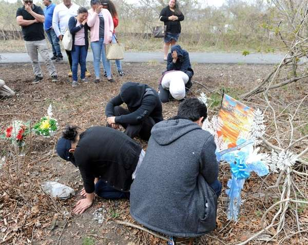 Family members of victims Michael Banegas and Jefferson