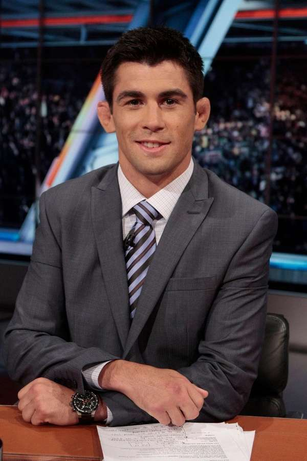 Dominick Cruz in the Fox Sports studios during