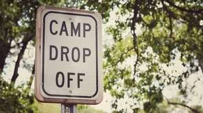 Summer camp drop off sign