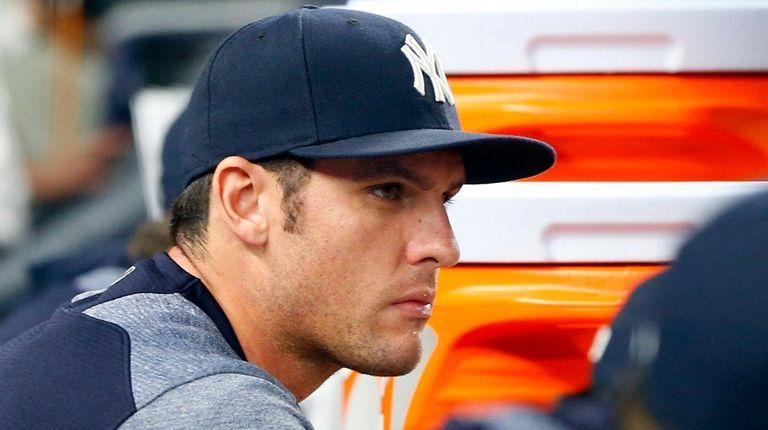 Greg Bird of the New York Yankees during