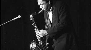 John Coltrane, shown performing in West Germany