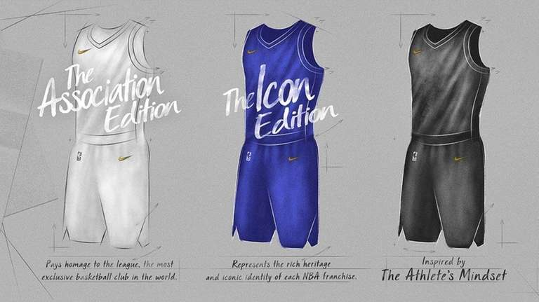 A look at Nike's four NBA uniforms for
