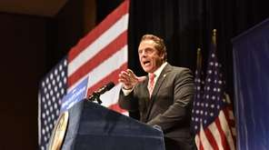 Gov. Andrew M. Cuomo at a health care