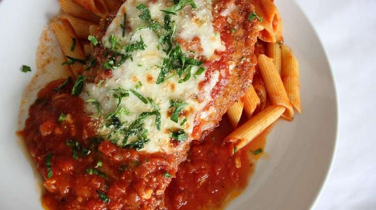 The chicken parmigiana at Luciana's Ristorante + Pizzeria