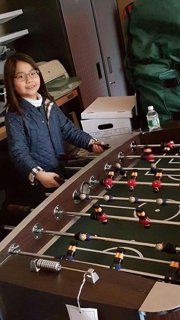 Kidsday reporter Charlotte Chan is the foosball champ