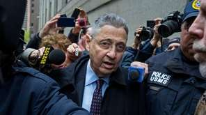 Former Democratic Assembly Speaker Sheldon Silver leaves a