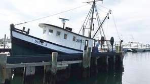 The Sylvia S in the Montauk dock on