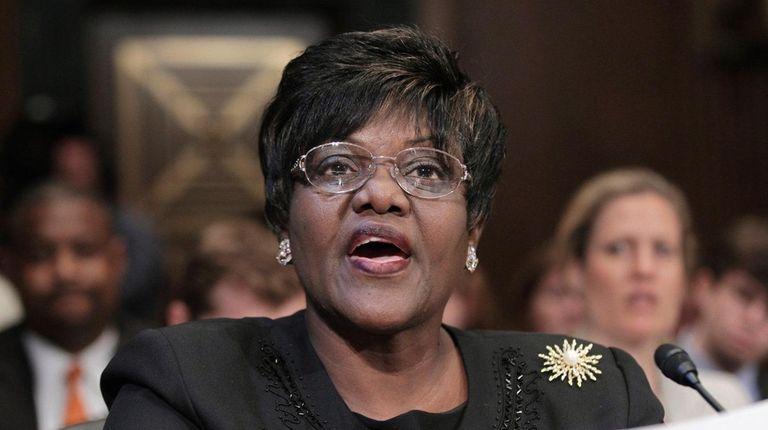Betty Dukes testifies on Capitol Hill in Washington