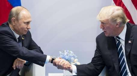 U.S. President Donald Trump, right, and Russian President