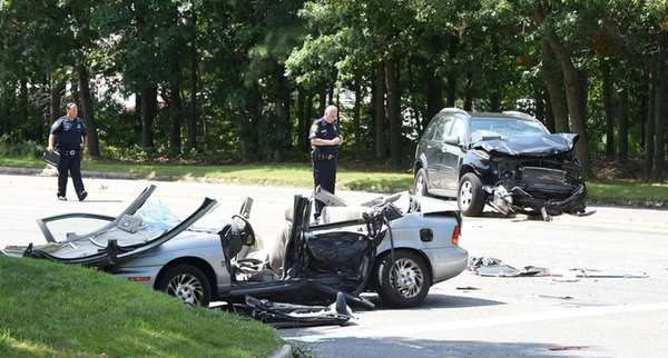 Two drivers were injured in a crash on