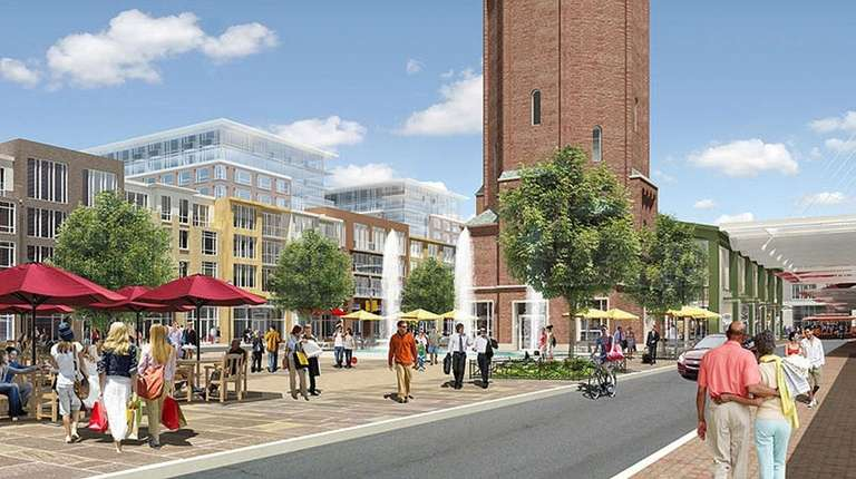 A rendering of the Heartland Town Square project