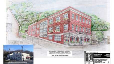 Rendering of the proposed Northport Inn. The owners