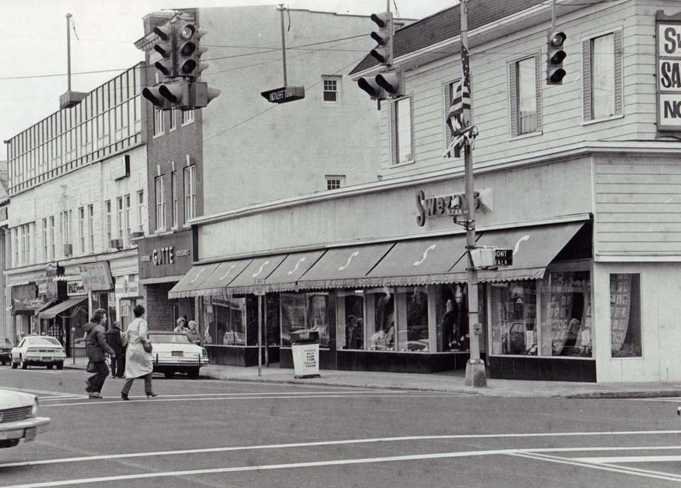 Swezey's department store in downtown Patchogue Village is