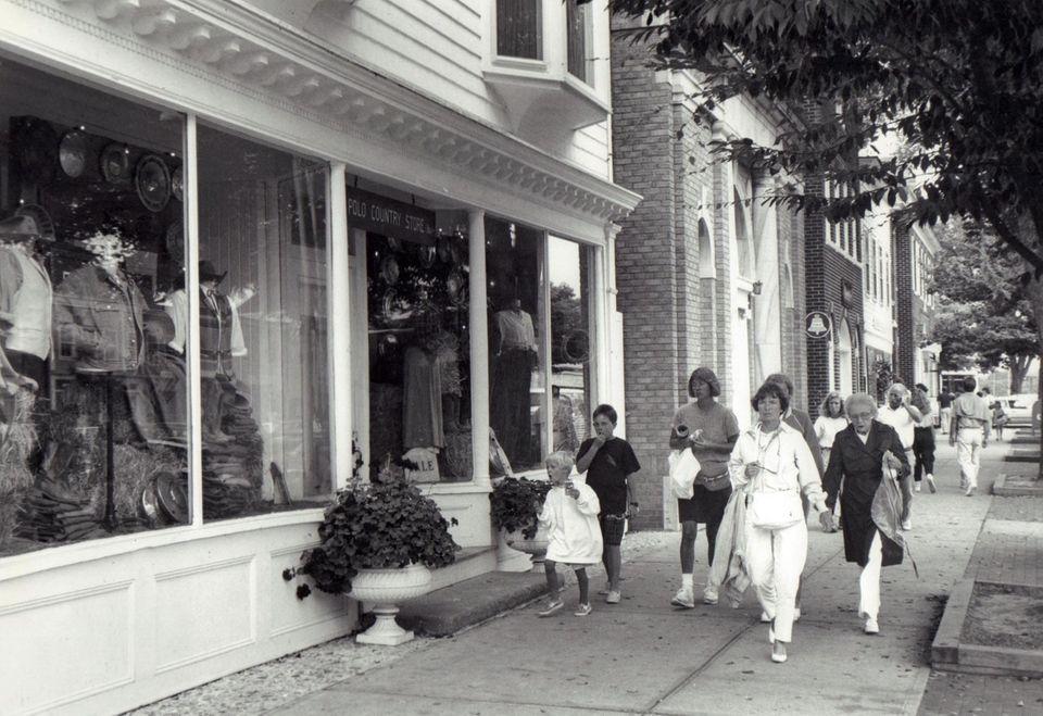 Shops along Main Street in East Hampton's downtown