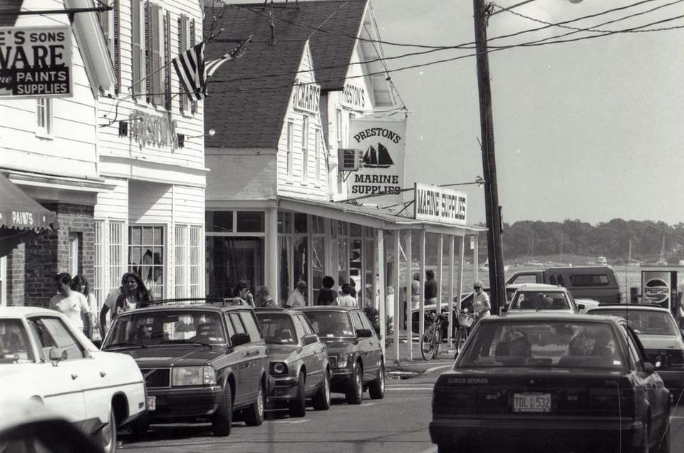 Shops in downtown Greenport are shown in this