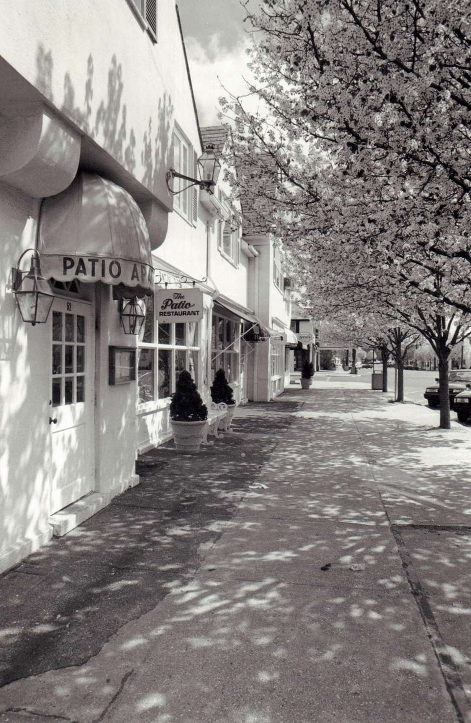 Shops in downtown Westhampton Beach are shown in