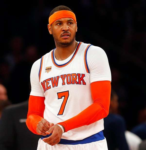 Carmelo Anthony in the second half of a