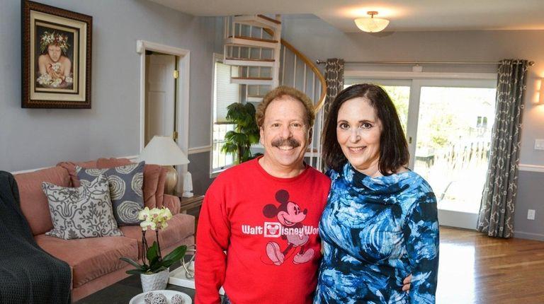 Joe and Joyce Villano in the living room
