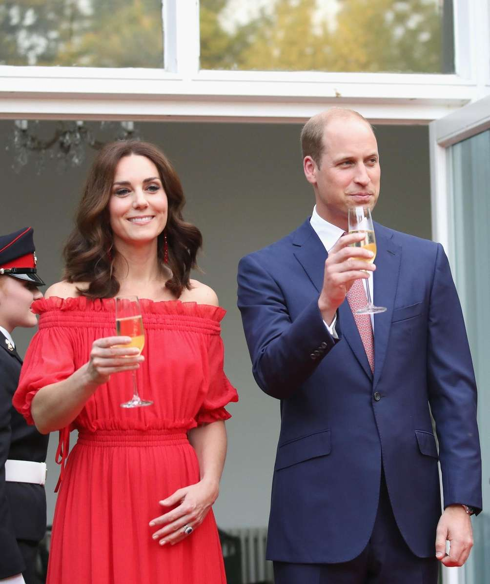 Katherine, the Duchess of Cambridge, and Prince William,