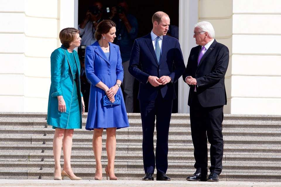 Britain's Prince William, Duke of Cambridge, far right,