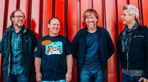 Phish guitarist Page McConnell, left, drummer Jon Fishman,