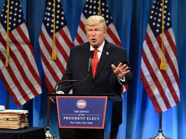 Alec Baldwin as Donald Trump in a sketch