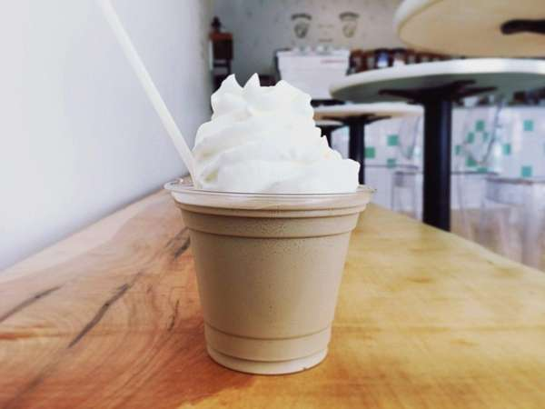 The coconut granita at Southdown Coffee in Oyster