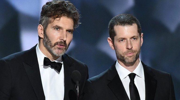 David Benioff and D.B Weiss accept an Emmy