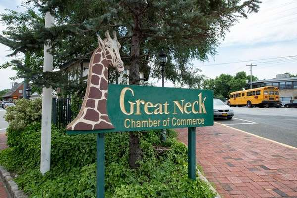 Among the giraffes spotted in Great Neck Plaza