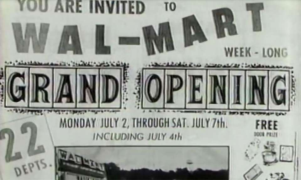 The first Walmart store was opened in Rogers,