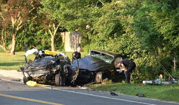 Police investigate a serious two-vehicle accident that forced the