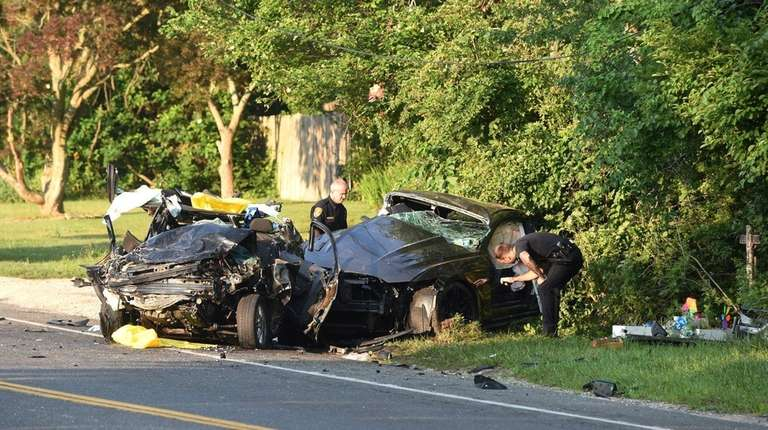 Police investigate aserious two-vehicle accident that forced the