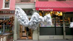 A man leaves the Balloon Station in TriBeCa