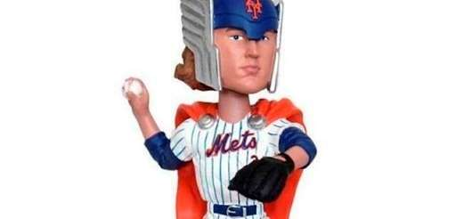 Noah Syndergaard as Thor Bobblehead. The Bobble head