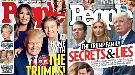 People magazine covers featuring the Trump family in
