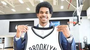 The Nets introduced Jarrett Allen to the media